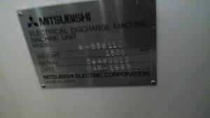 三菱電機 ワイヤーカット 三菱電機 ADMAC 536110 1995 1995 ADMAC 536110 TKS-151311