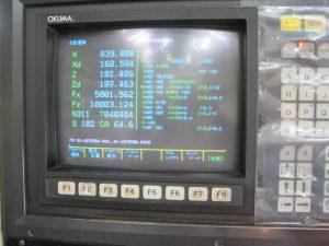 オークマ NCフラット型旋盤 オークマ LH55-N 1990 1990 LH55-N TKS-38316