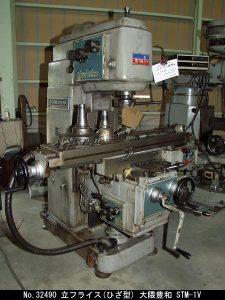 大隈豊和 大隈豊和 立フライス(ひざ型) STM-1V 1982 STM-1V OKW-32490